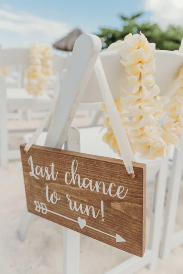Détail décoration mariage