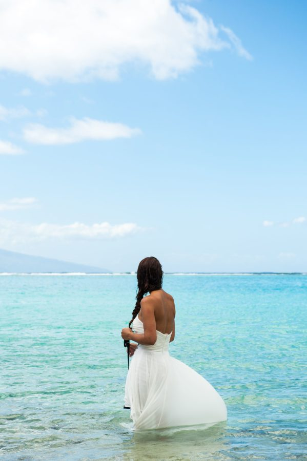 Séance Trash The Dress Sofitel Moorea - Plage de Temae