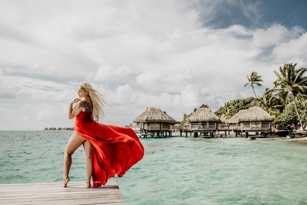 Portrait de femme à Bora Bora