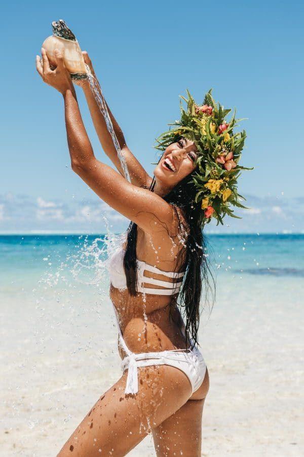 Portrait de femme à Tahiti