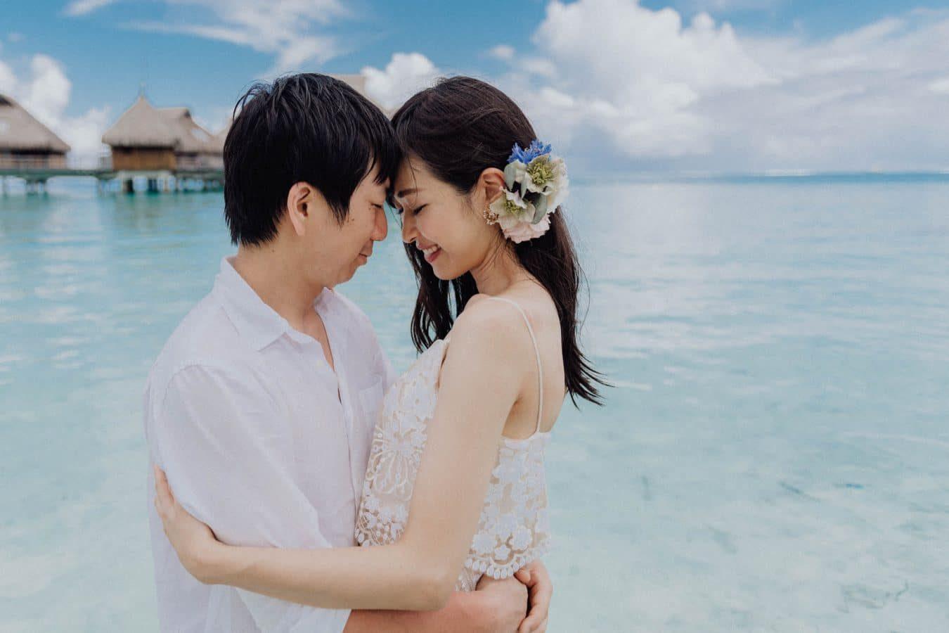 Photo de mariés au Conrad Bora Bora