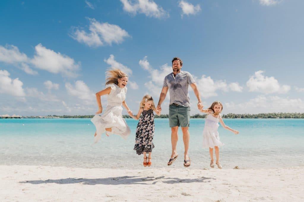 Family photoshoot, St Régis Bora Bora