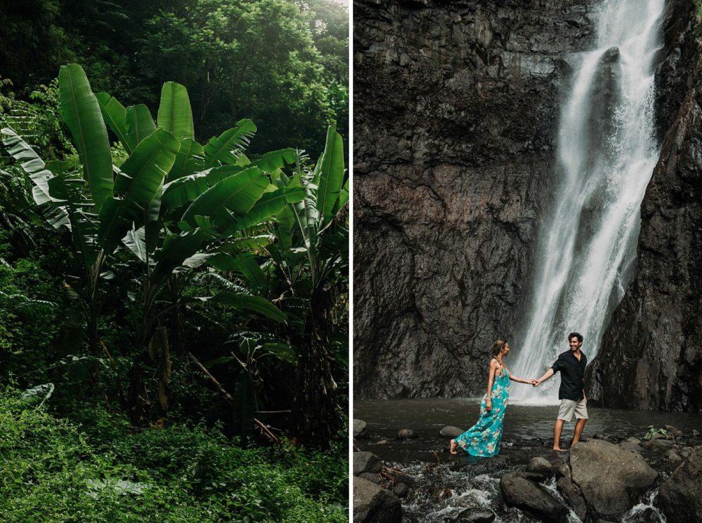 Photos de couple dans la foret tropicale de Tahiti - MG Photographe tahiti