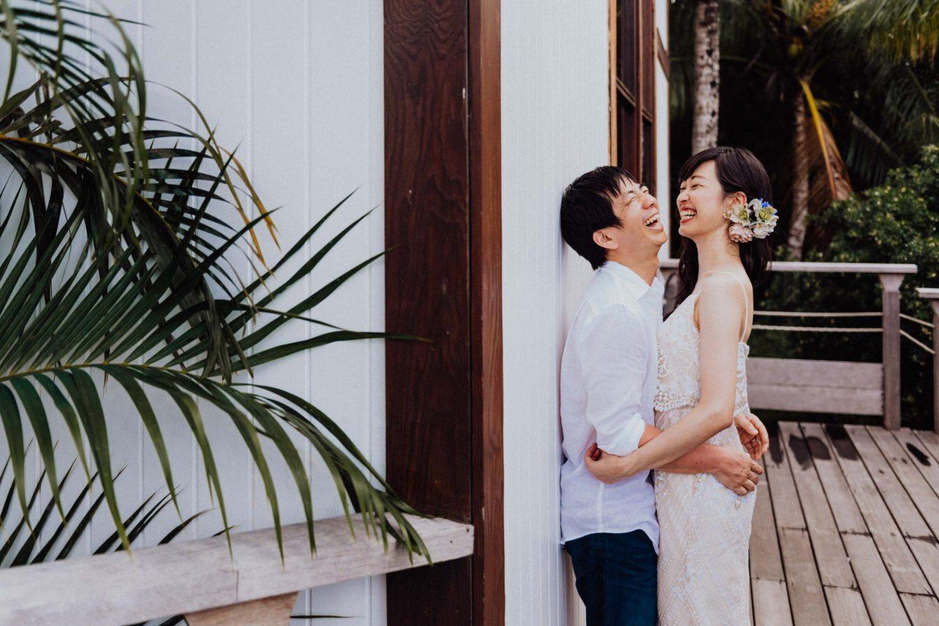 Honeymoon photoshoot Conrad Bora Bora