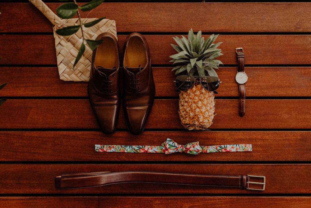 Détails d'un mariage à Tahiti