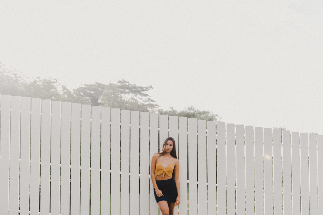 Photo portrait femme Tahiti