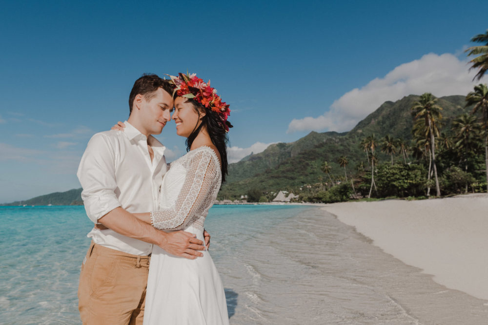 Séance photo Trash the Dress à Moorea