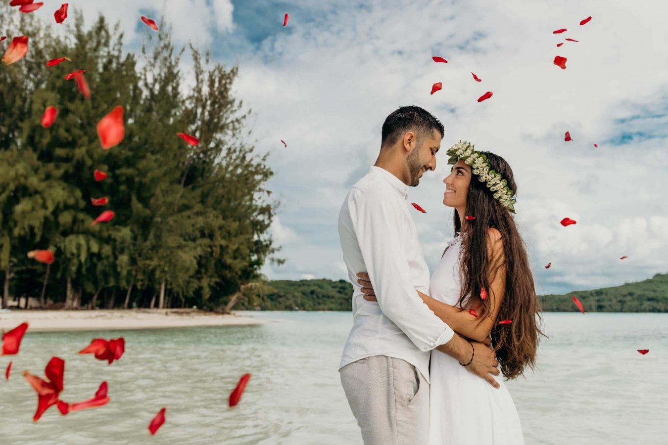Wedding in the motu tapu Bora Bora