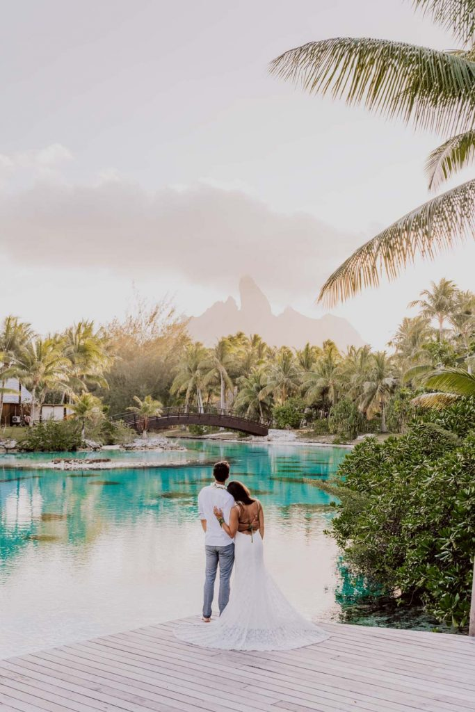 photoshoot at the St Régis Bora Bora