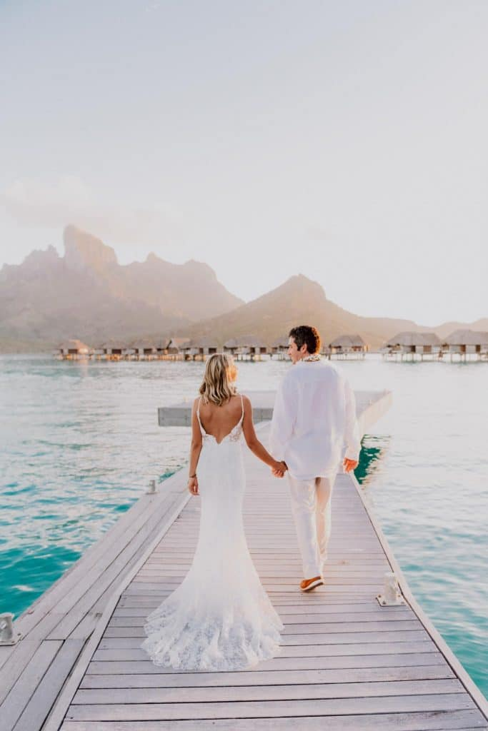 wedding photoshoot at the Four Seasons Bora Bora