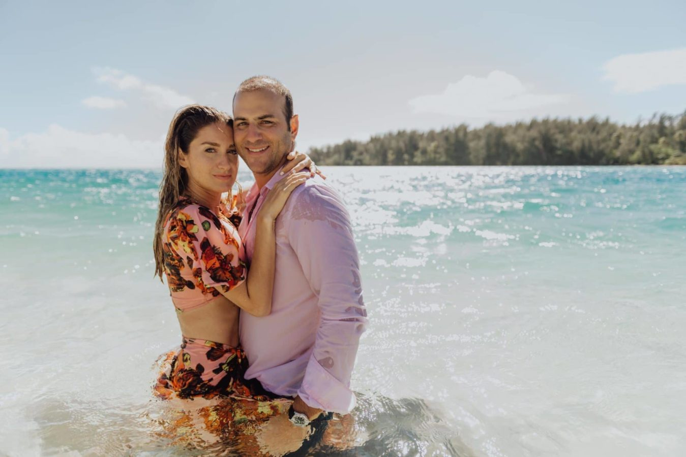 Shooting photo couple à Moorea