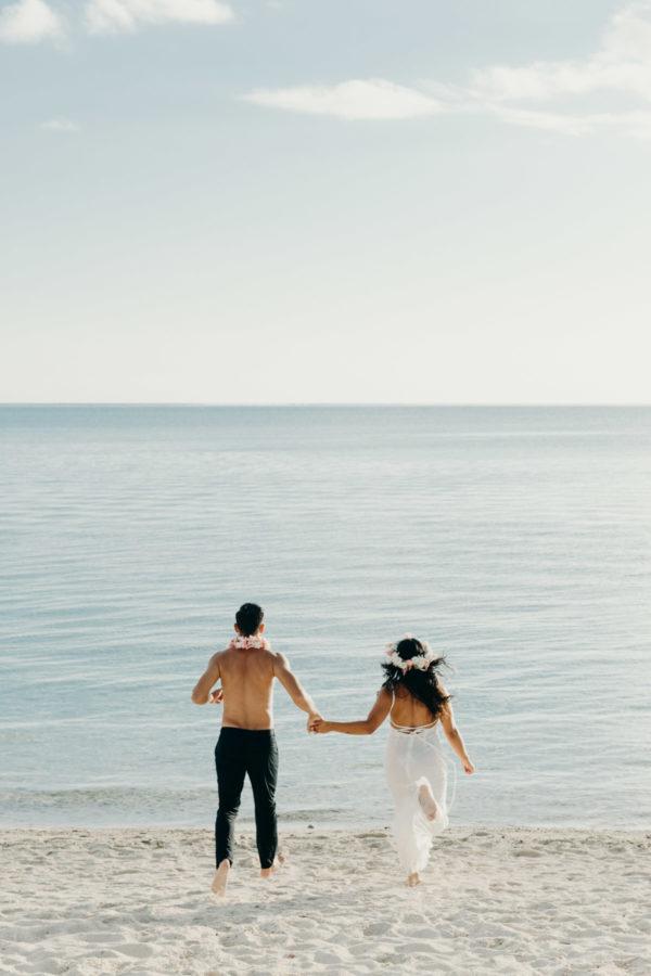 Couple photoshoot Matira Beach Bora Bora
