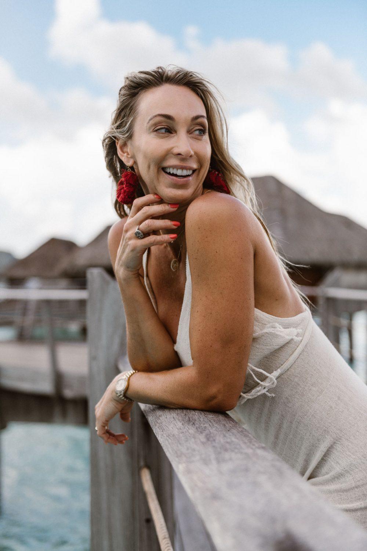 Fashion photoshoot at the Four Seasons Bora Bora