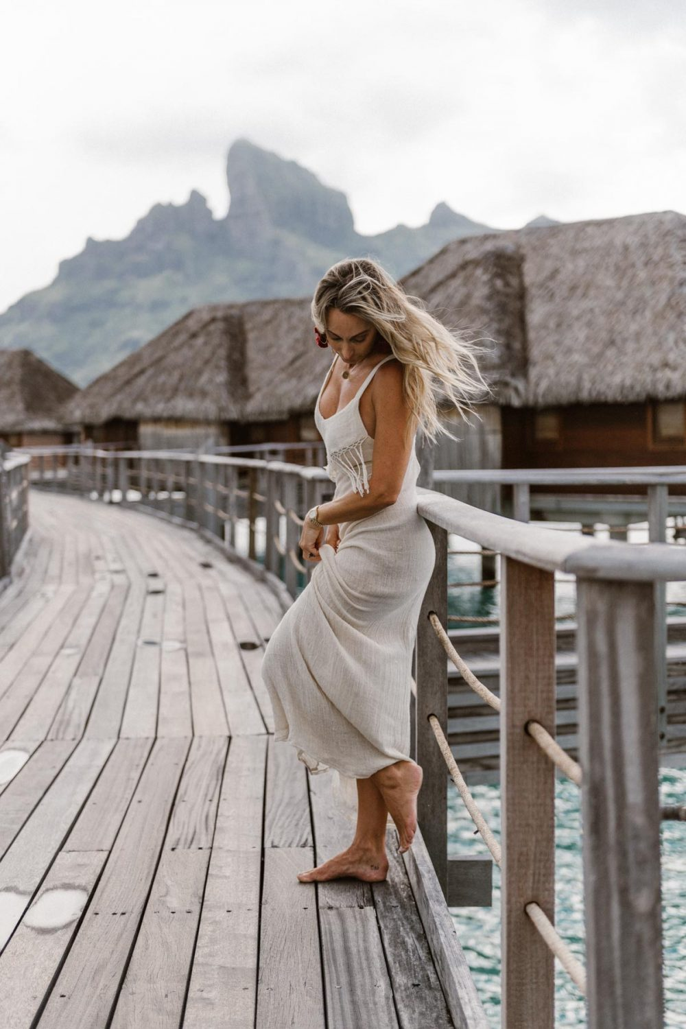 Fashion photoshoot at the Four Seasons Bora Bora