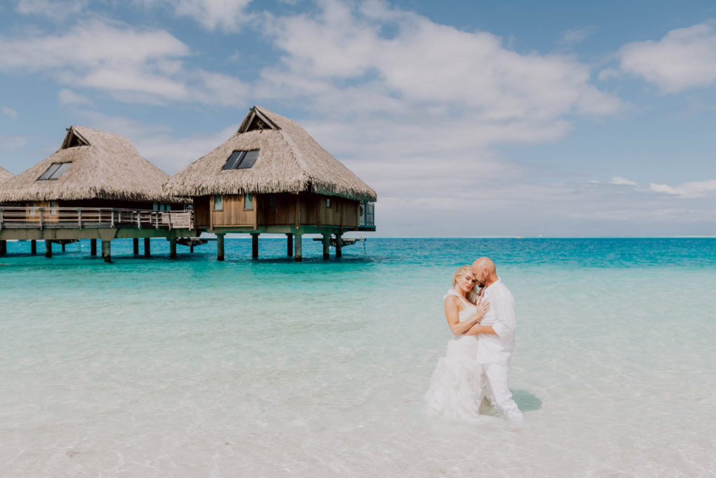 Trash The Dress at The Conrad Bora Bora
