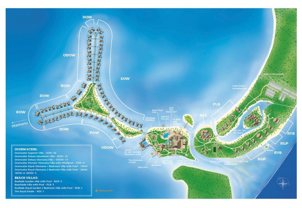 St Régis Bora Bora Map