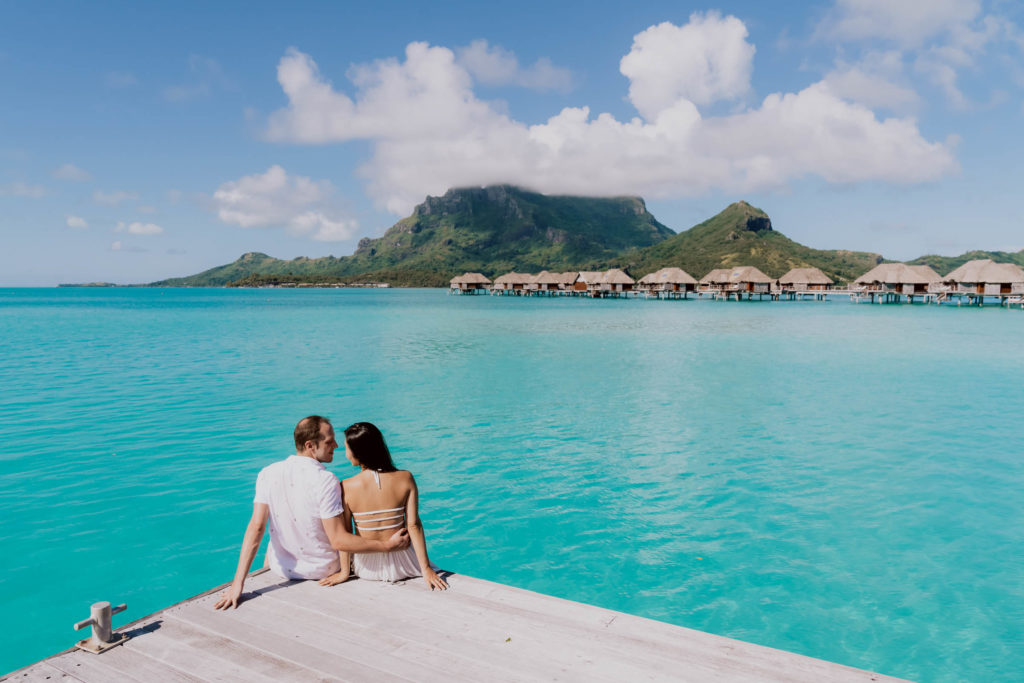 photoshoot at the Four Seasons Bora Bora