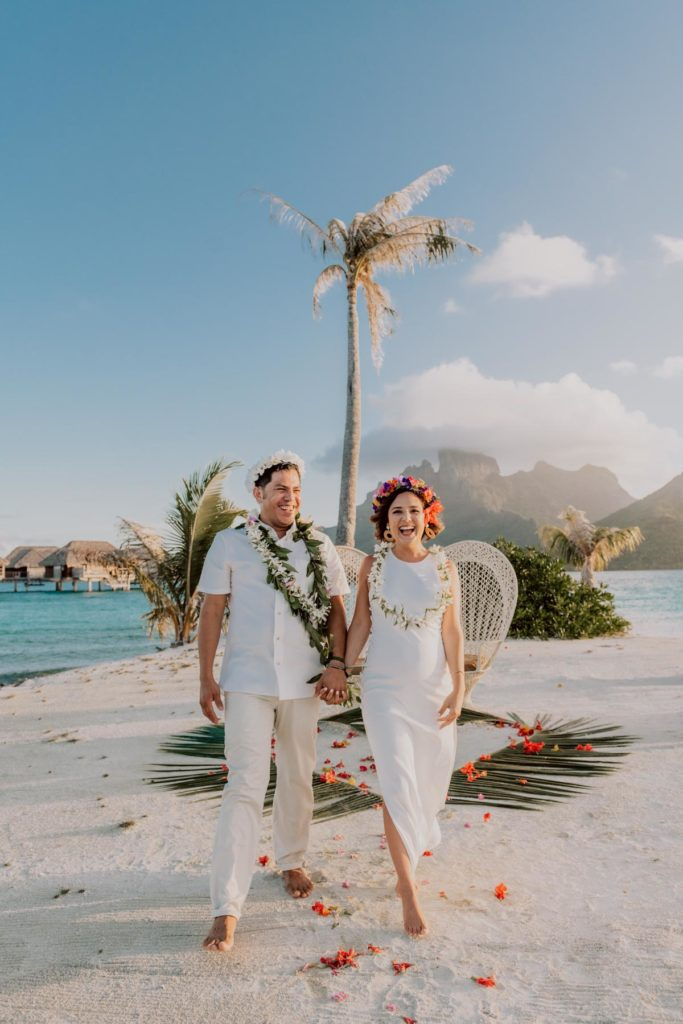 wedding at the Four Seasons Bora Bora