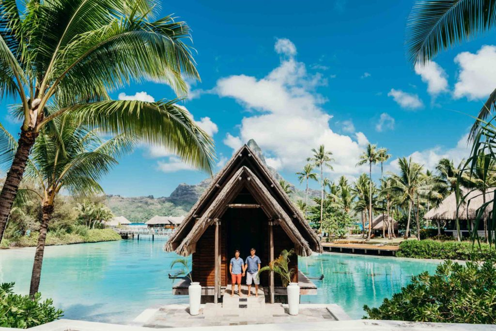 photoshoot at the Intercontinental Thalasso Bora Bora chapel