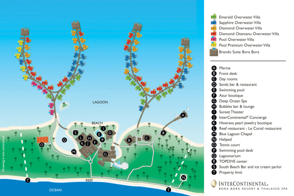 Intercontinental Thalasso Bora Bora map