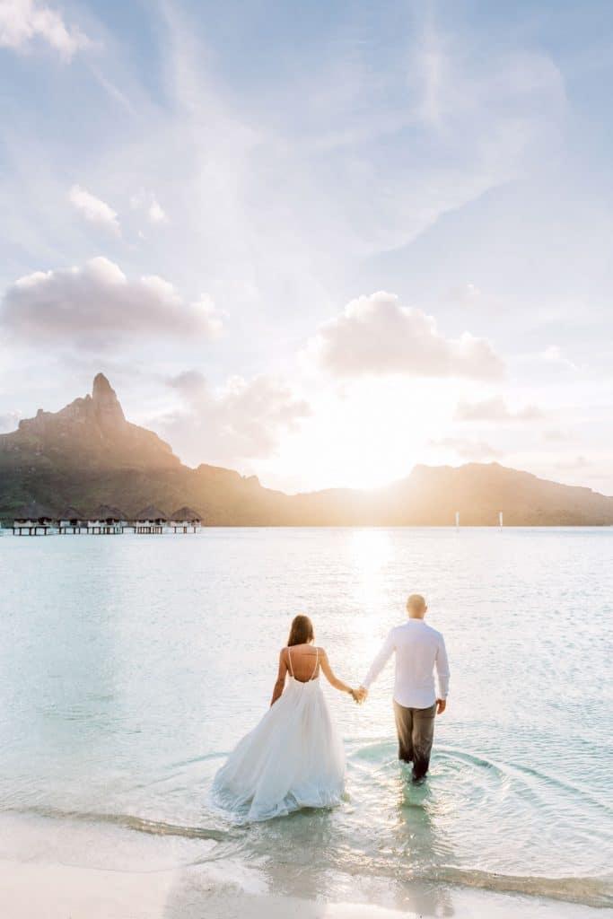 Se marier à Bora Bora sur la plage