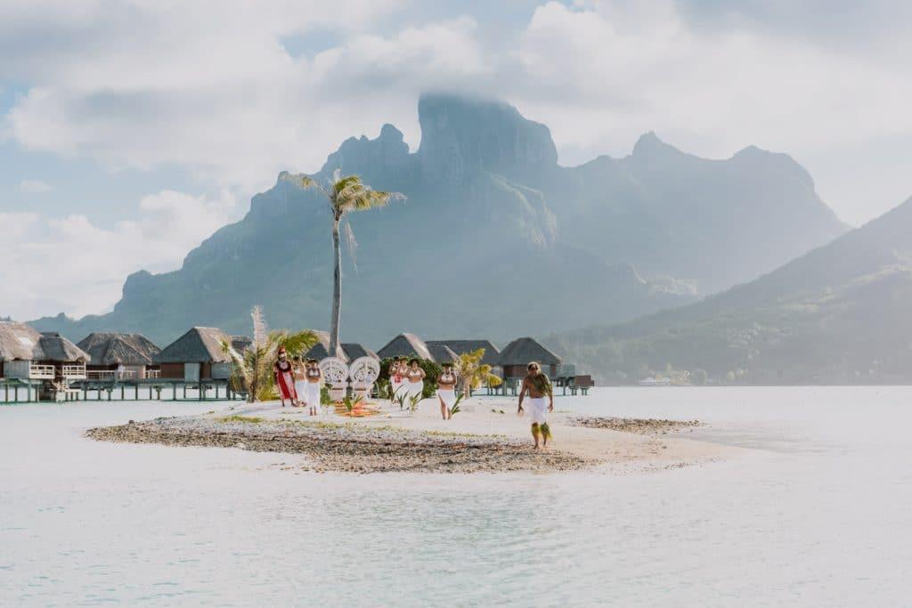 Se marier à Bora Bora sur une île privée