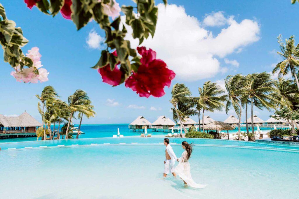 Photoshoot Conrad Bora Bora - Infinity pool