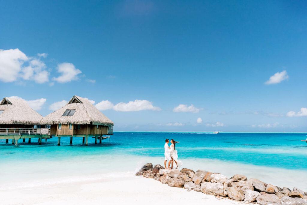 Photoshoot Conrad Bora Bora - Main beach