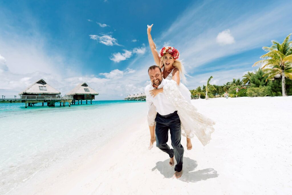 Couple Photoshoot Conrad Bora Bora - Main beach