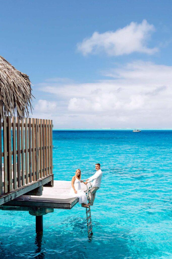 Photoshoot Conrad Bora Bora - Overwater bungalow