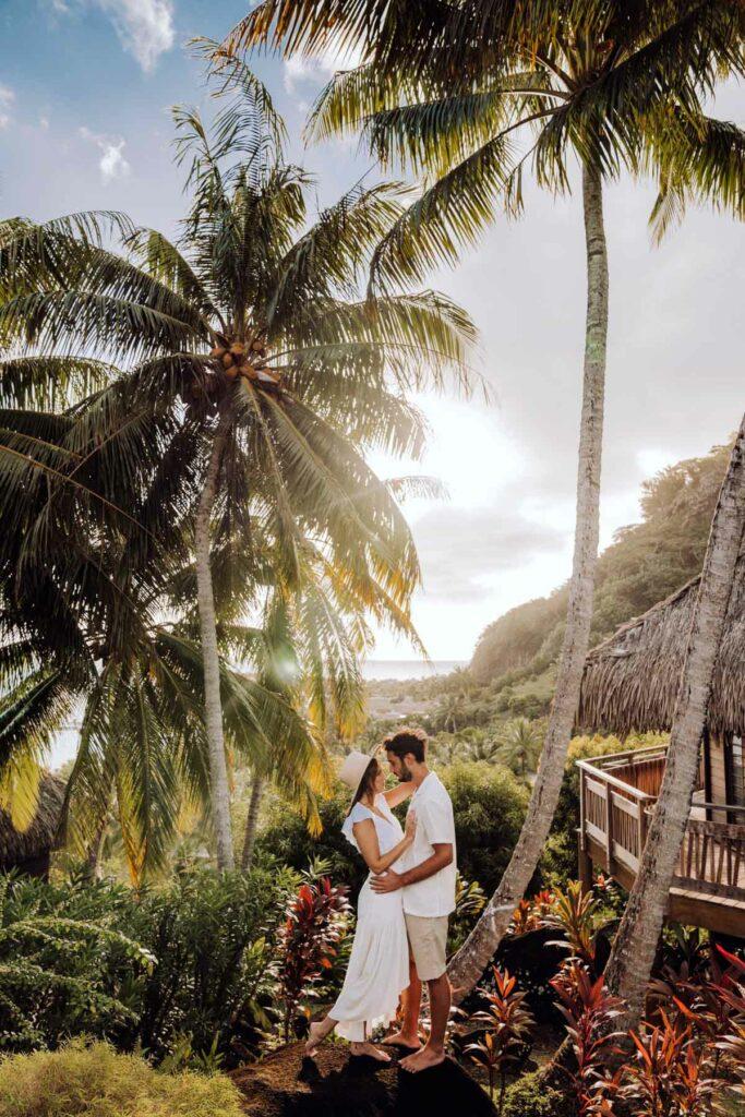 Photoshoot Conrad Bora Bora - Spa hill