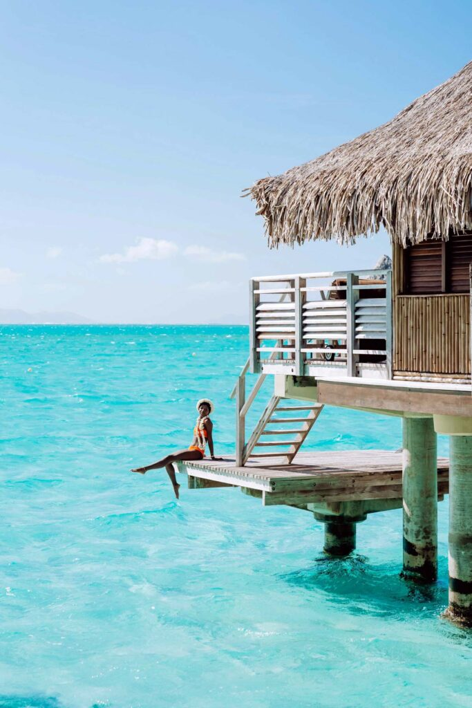 Photoshoot at the Intercontinental Le Moana Bora Bora - Overwater bungalow