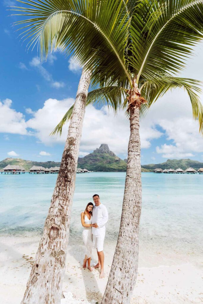 Photoshoot at the Intercontinental Thalasso Bora Bora - Main beach