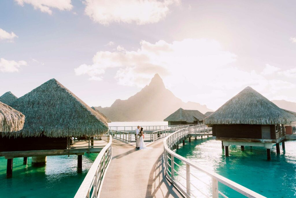 Photoshoot at the Intercontinental Thalasso Bora Bora - Bridges