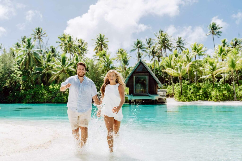 Photoshoot at the Intercontinental Thalasso Bora Bora - Chapel beach