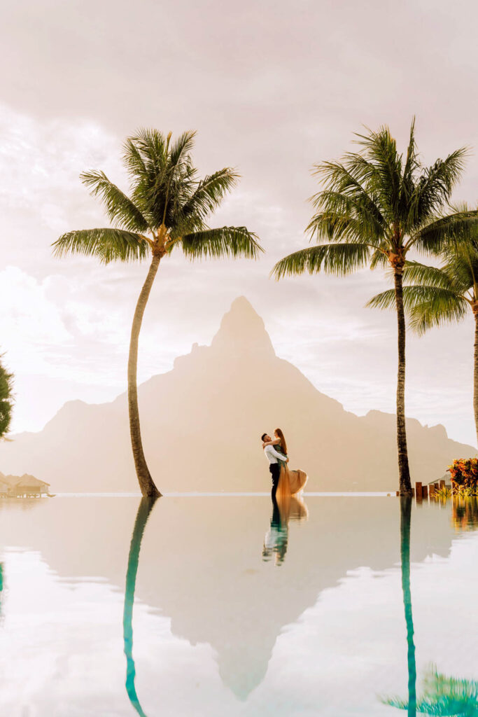 Photoshoot at the Intercontinental Thalasso Bora Bora - Main Pool