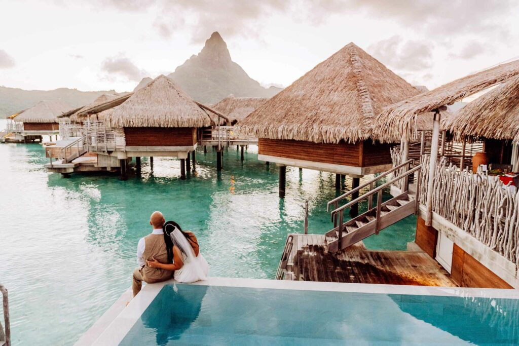 Photoshoot at the Intercontinental Thalasso Bora Bora - Overwater bungalow