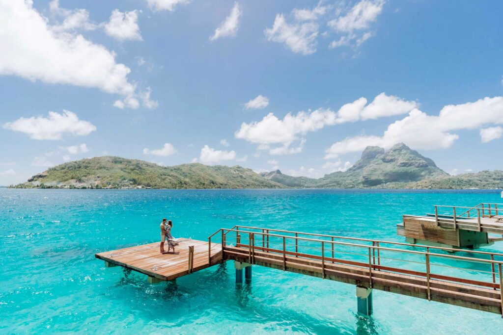 Photoshoot at Le Bora Bora - Overwater deck
