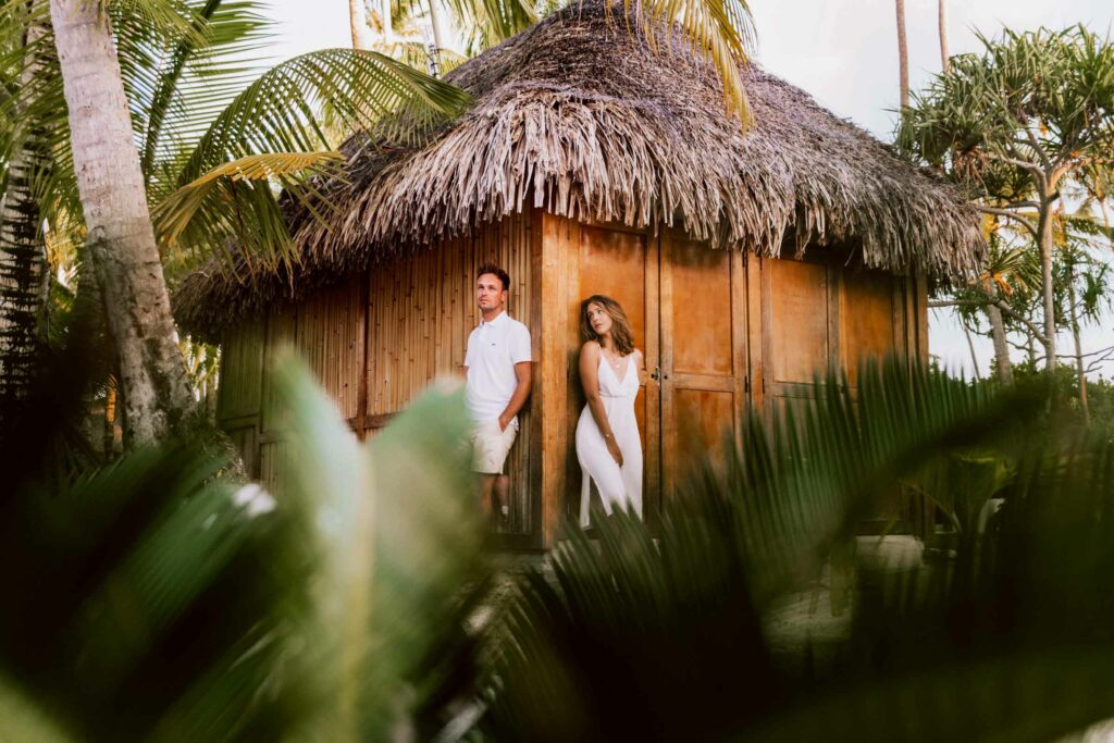 Photoshoot at Le Bora Bora - Tropical gardens