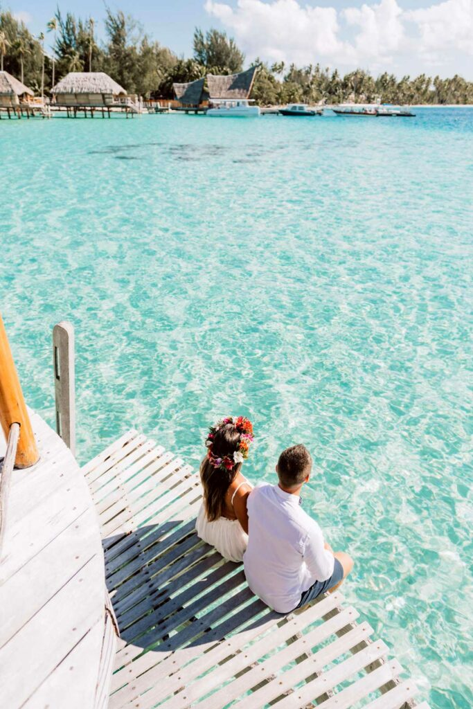 Photoshoot at Le Bora Bora - Overwater bungalow